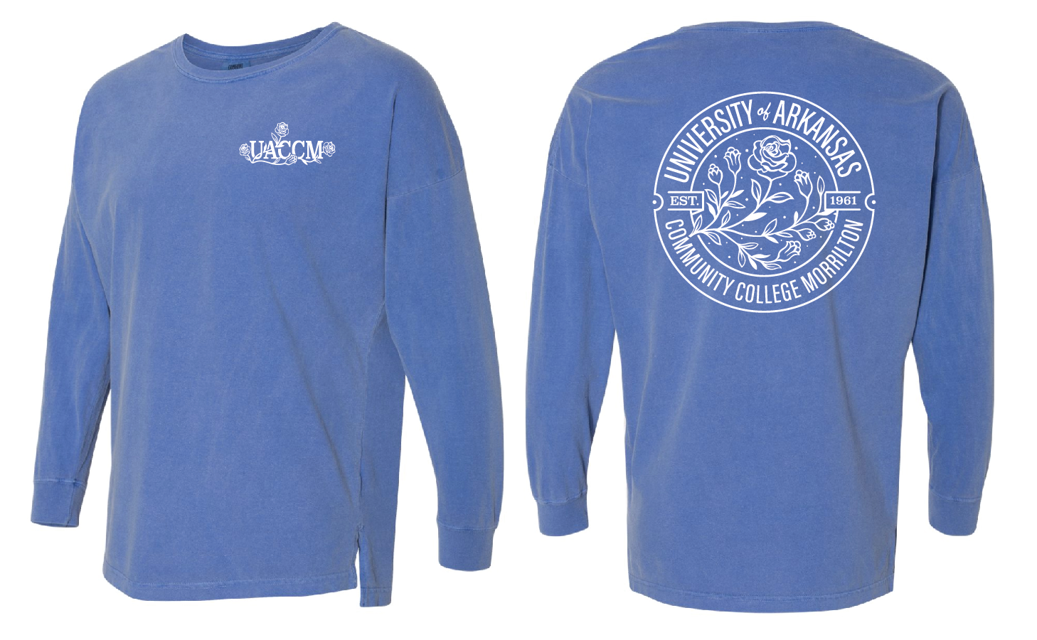 UACCM Rose Drop Shoulder Long Sleeve Tees
