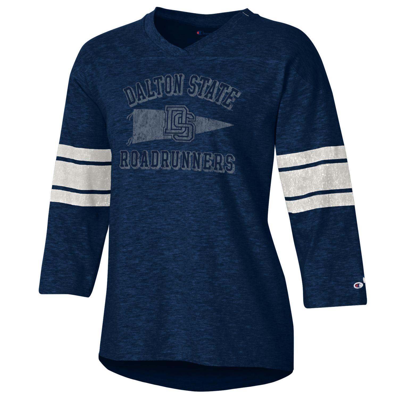 Dalton State Roadrunners Pennant Women's Rochester Slub Shirt