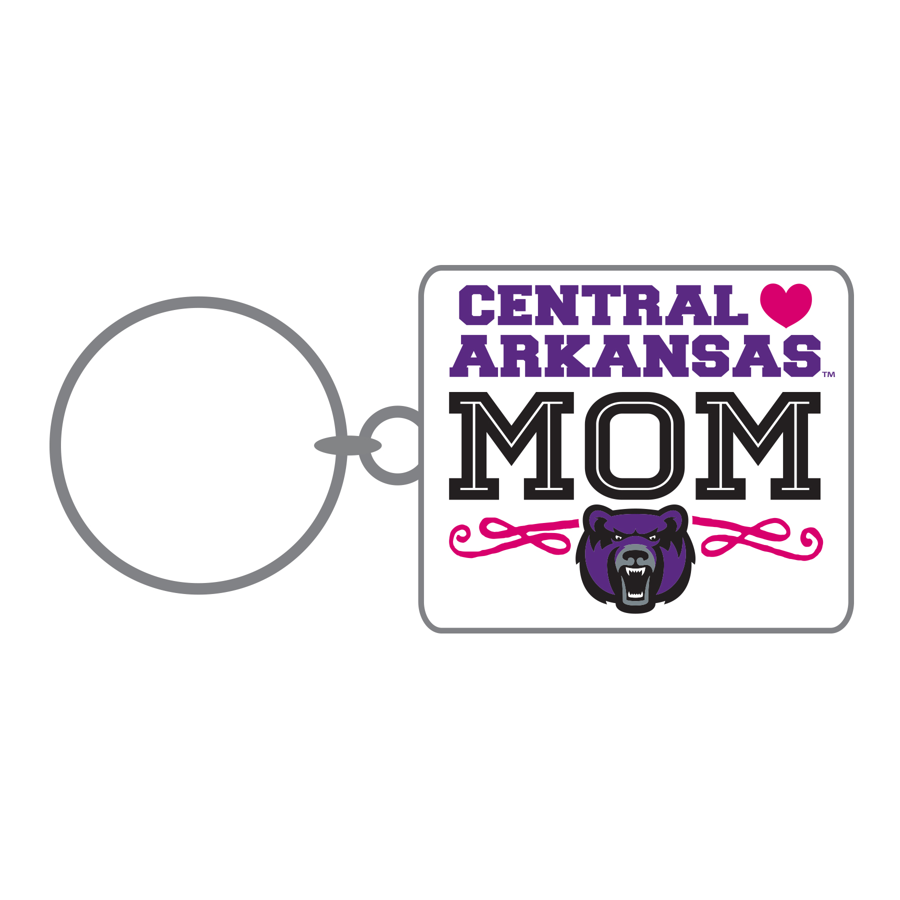 UCA Mom Metal keytag