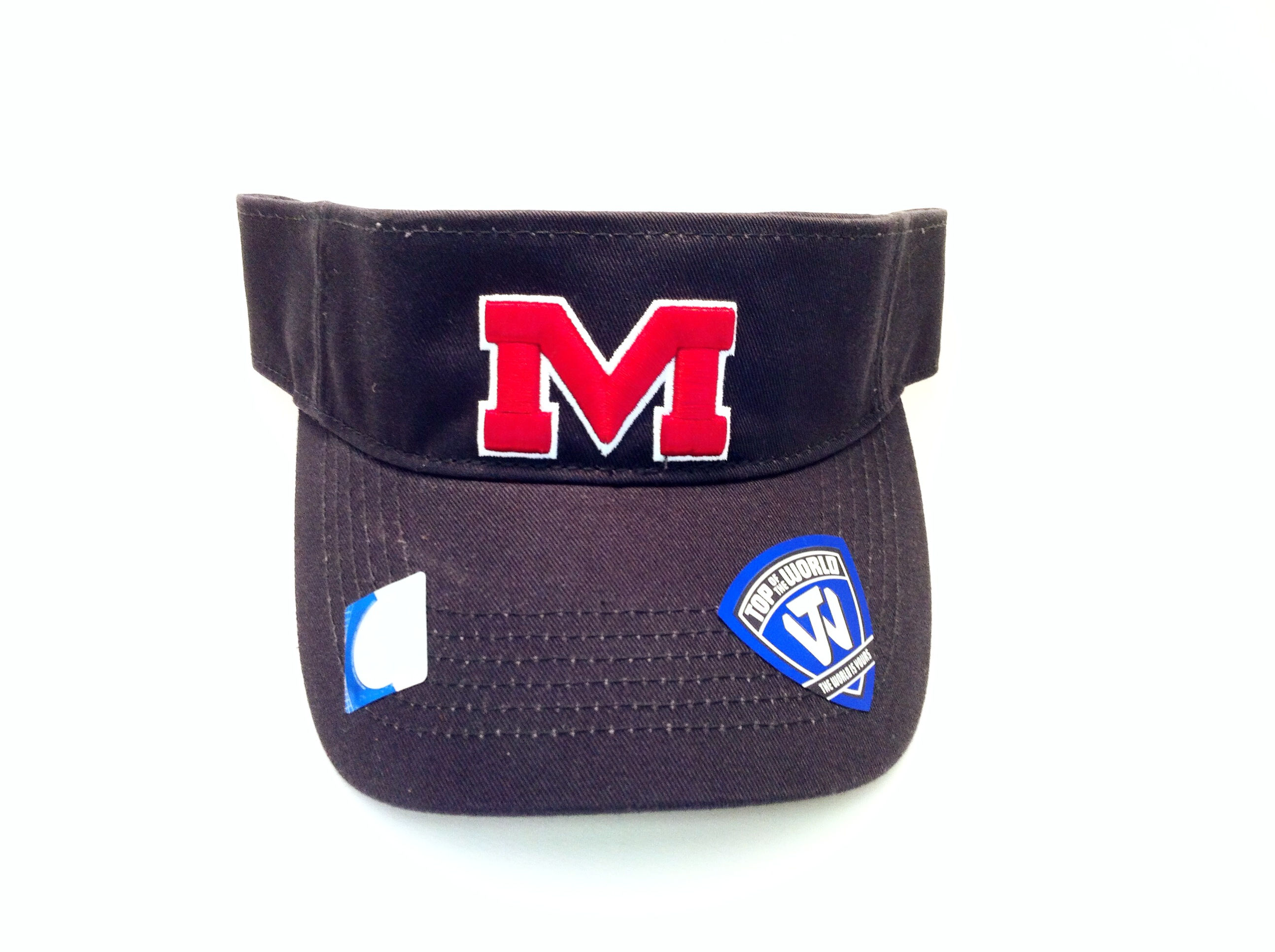 Birdie Visor - Navy with Red M