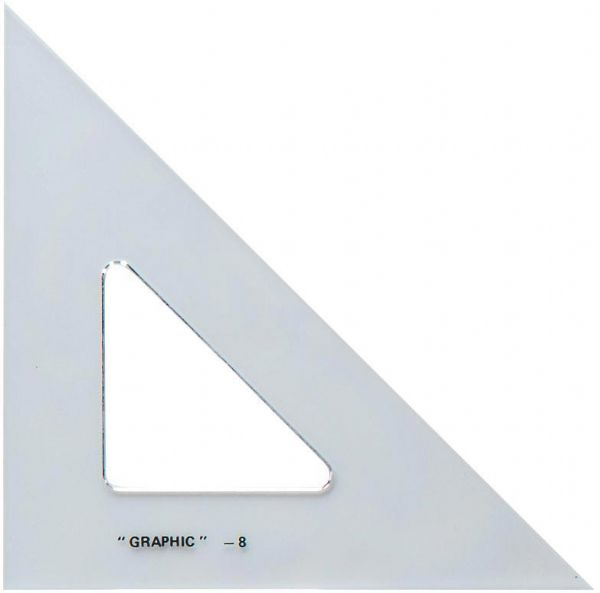 "Alvin® 10"" Academic Transparent Triangle"