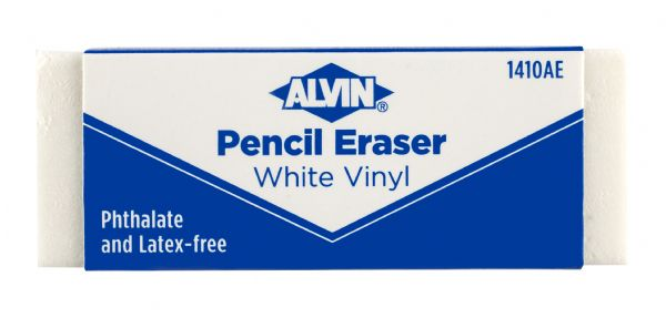 Alvin® White Vinyl Pencil Erasers