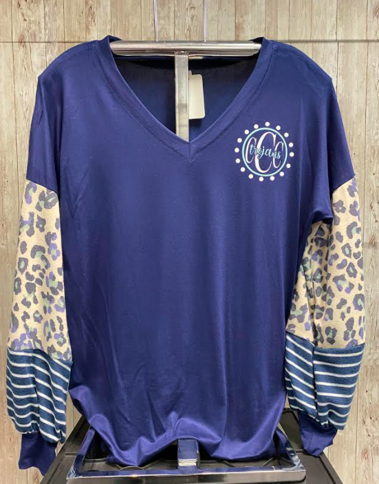 Leopard & Stripe Long Sleeve