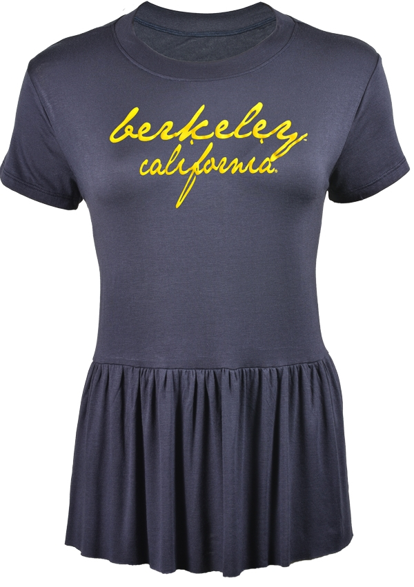 University of California Berkeley U-Trau Kari Ruffle Women Tee