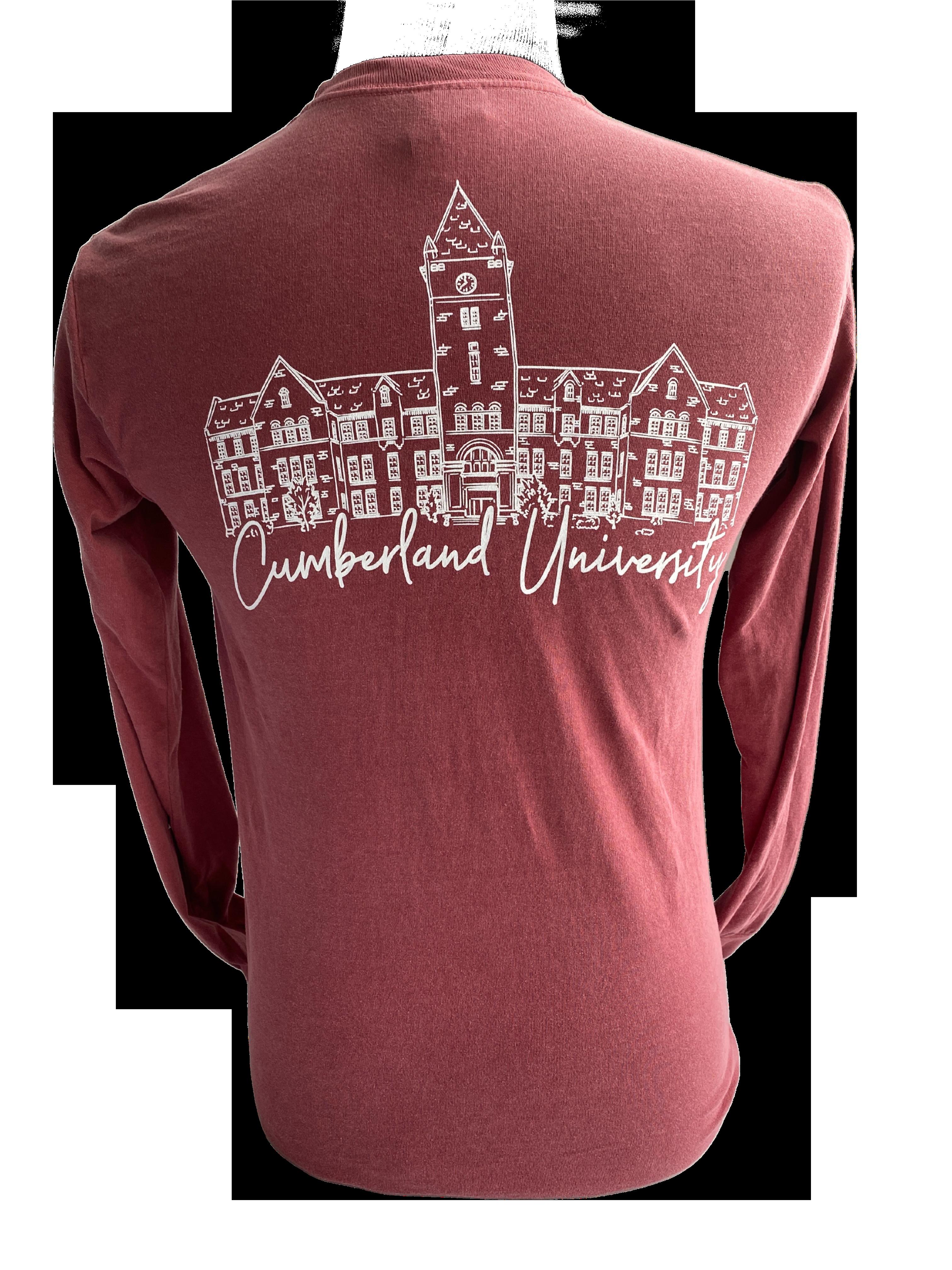 CU Memorial Hall Long Sleeve Comfort Colors Shirt