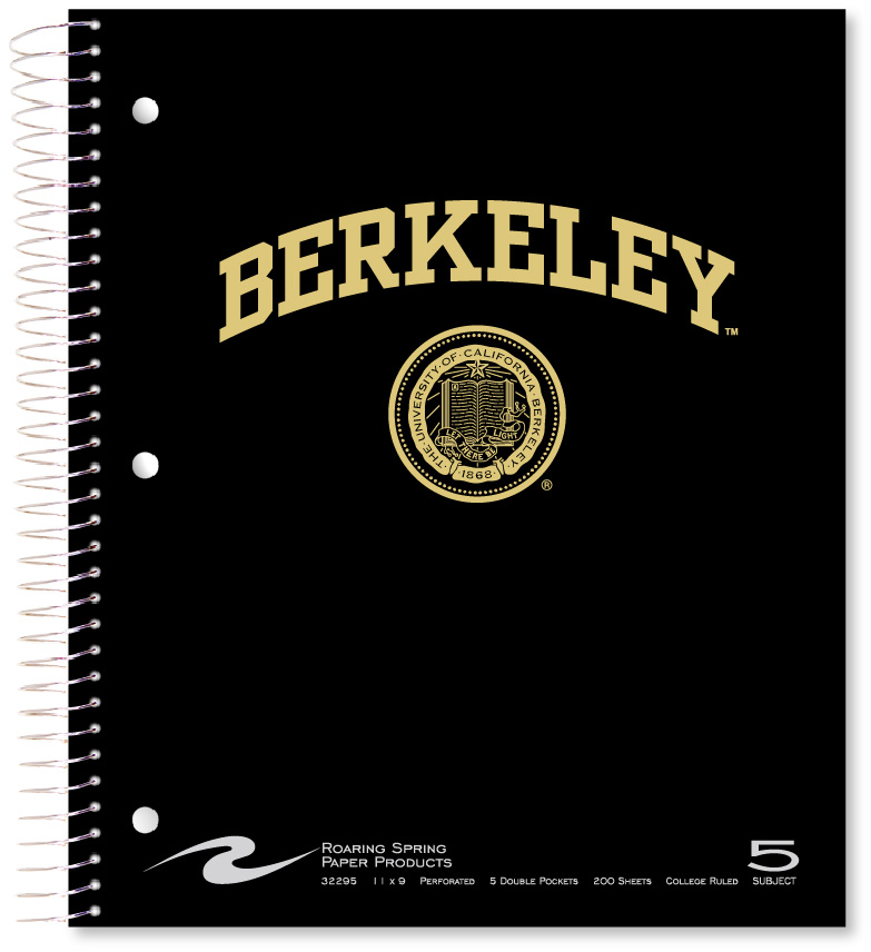 University of California Berkeley 5 Subject Notebook Berkeley Seal