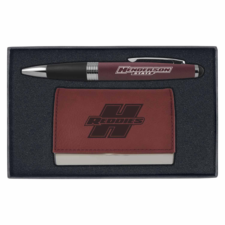 Pen & Business Card Engraved Gift Set