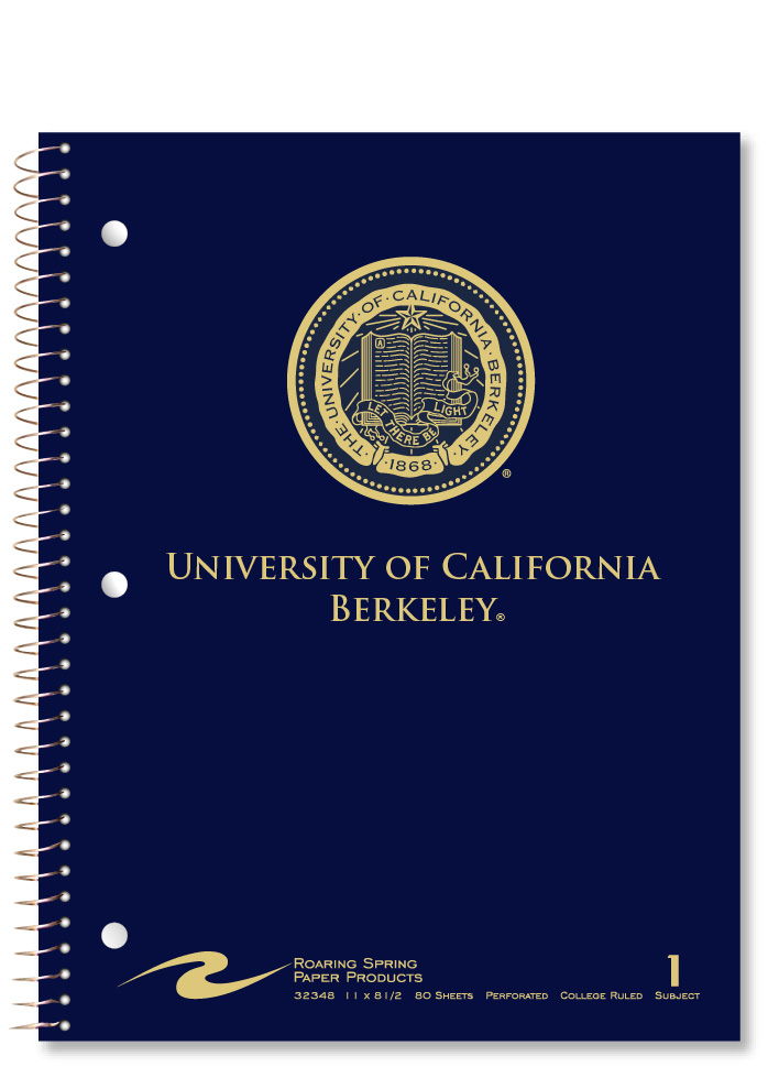 University of California Berkeley 1 Subject Notebook School Name Seal