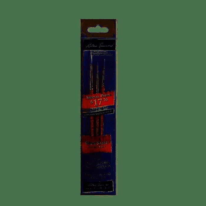 White Sable Premium Quality Brush Set