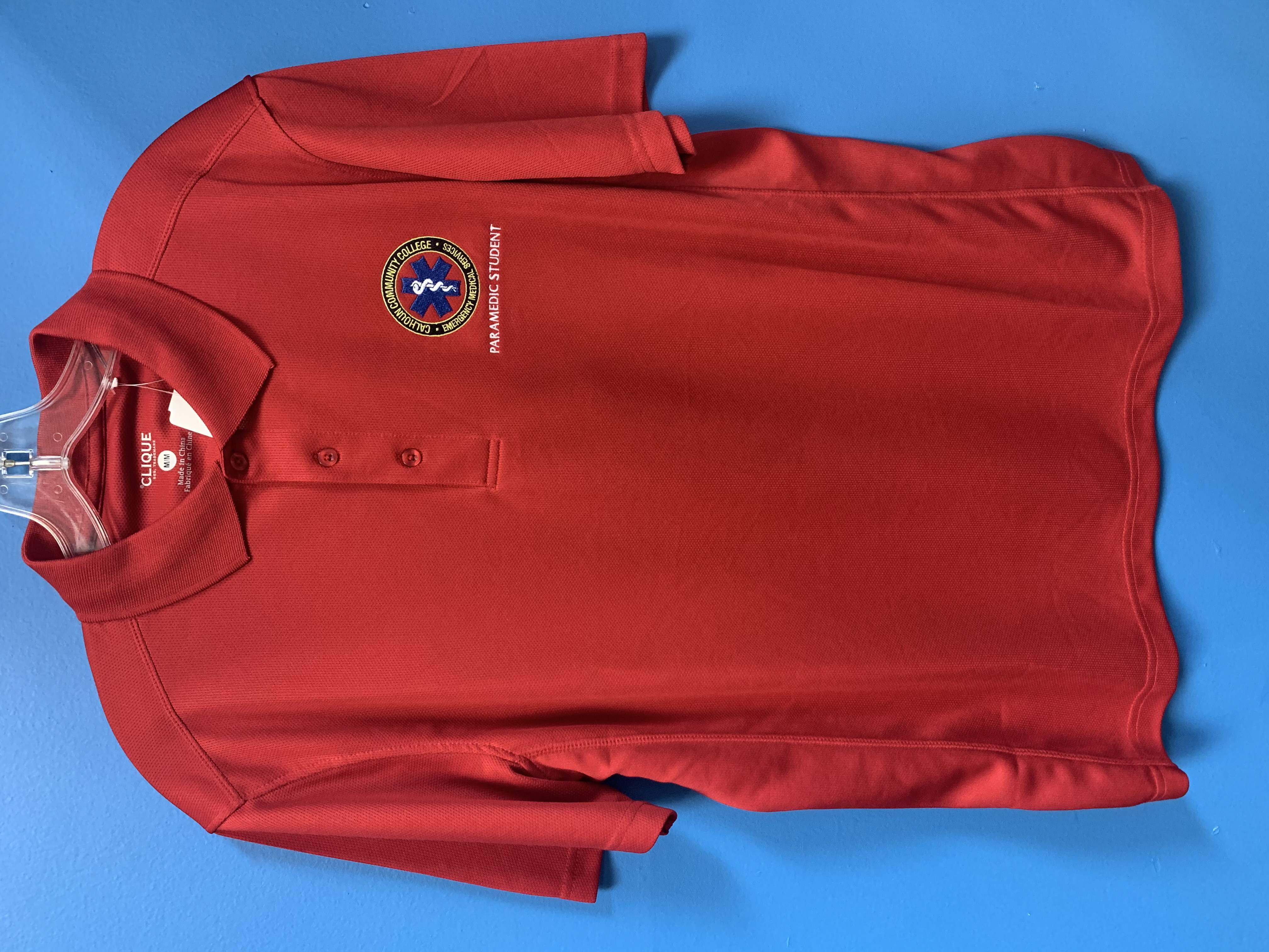Red CCC Paramedic Student Polo