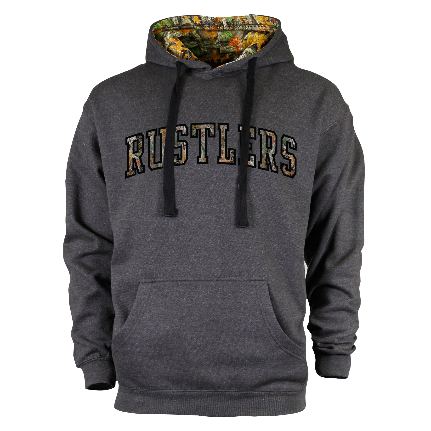 Camo Print Rustlers Logo Hoodie