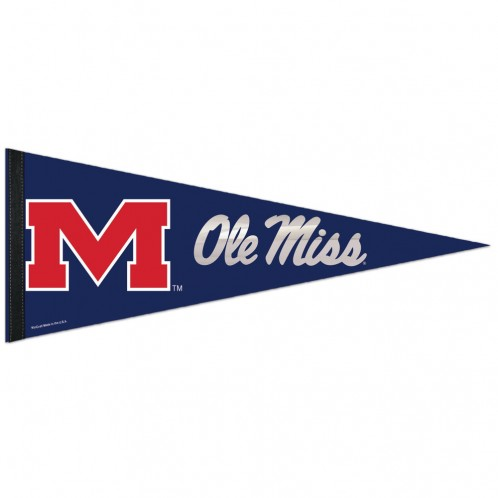 Navy Pennant with Mylar Accents