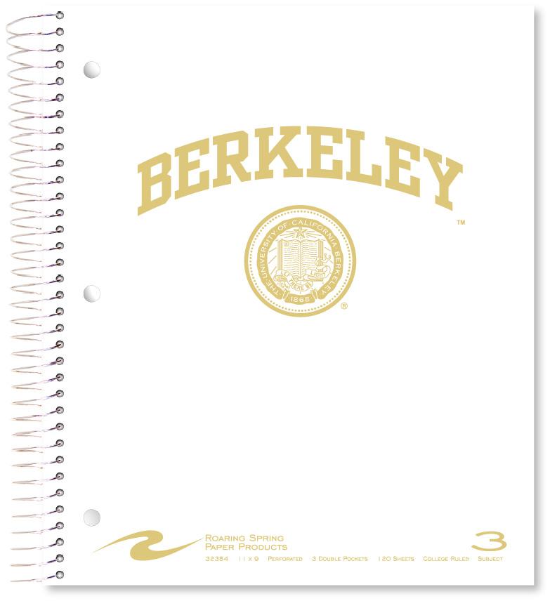 University of California Berkeley 3 Subject Notebook Berkeley Seal