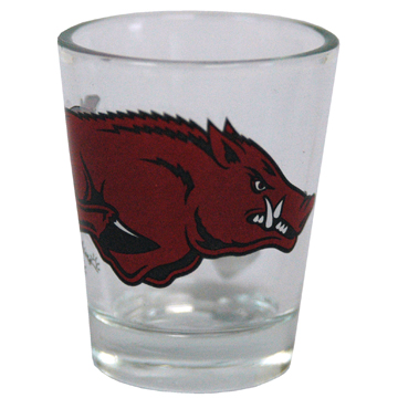 Arkansas Razorback Shot Glass