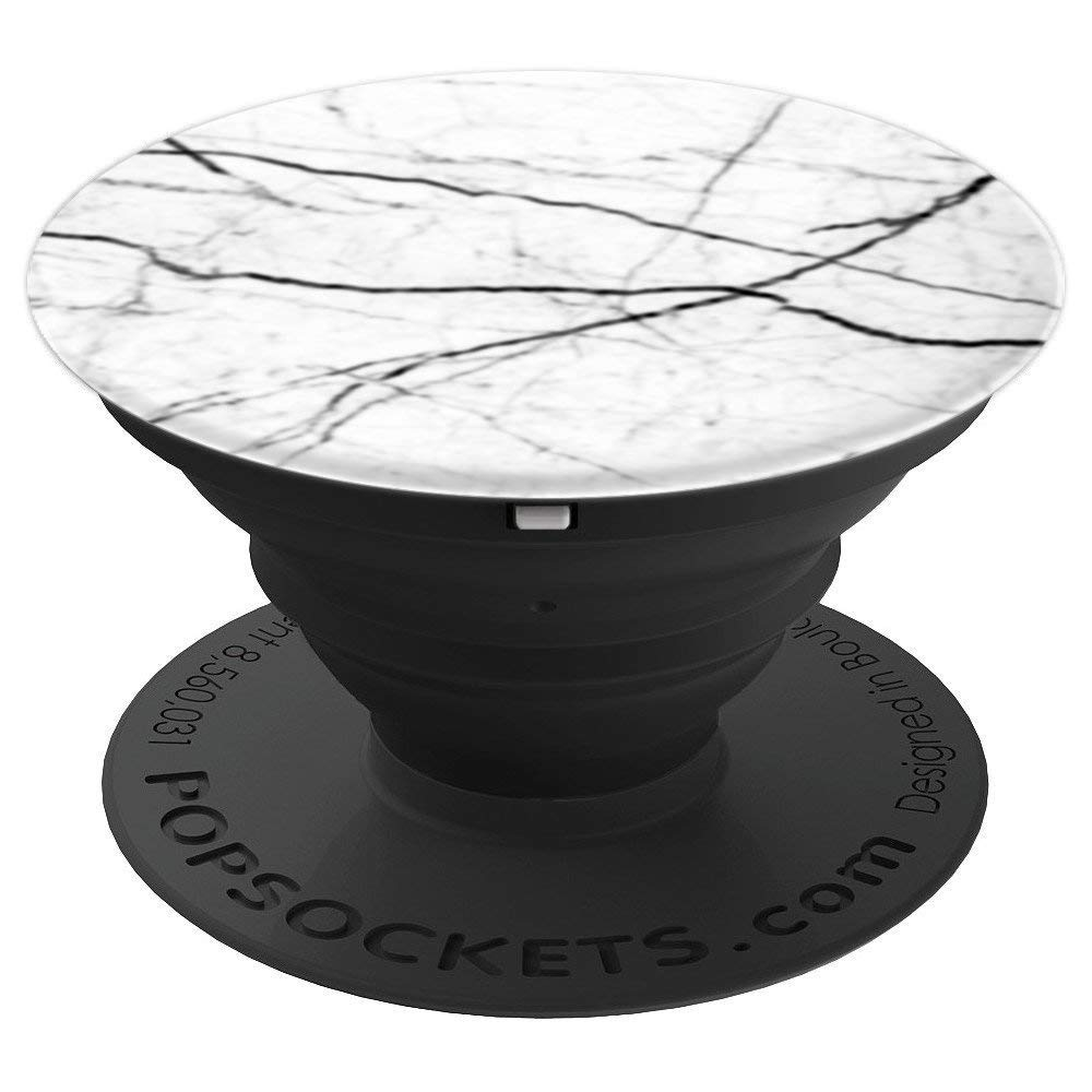Dover White Marble Swappable PopSocket