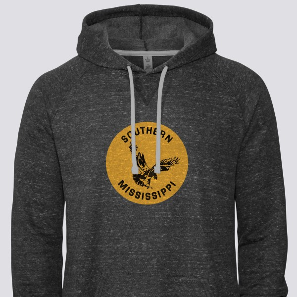 1978 Southern Miss Golden Eagles Snow Heather Raglan Hoodie