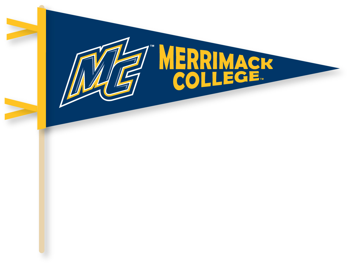 Merrimack College Bookstore: Stick Pennant