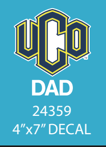 UCO Dad Decal