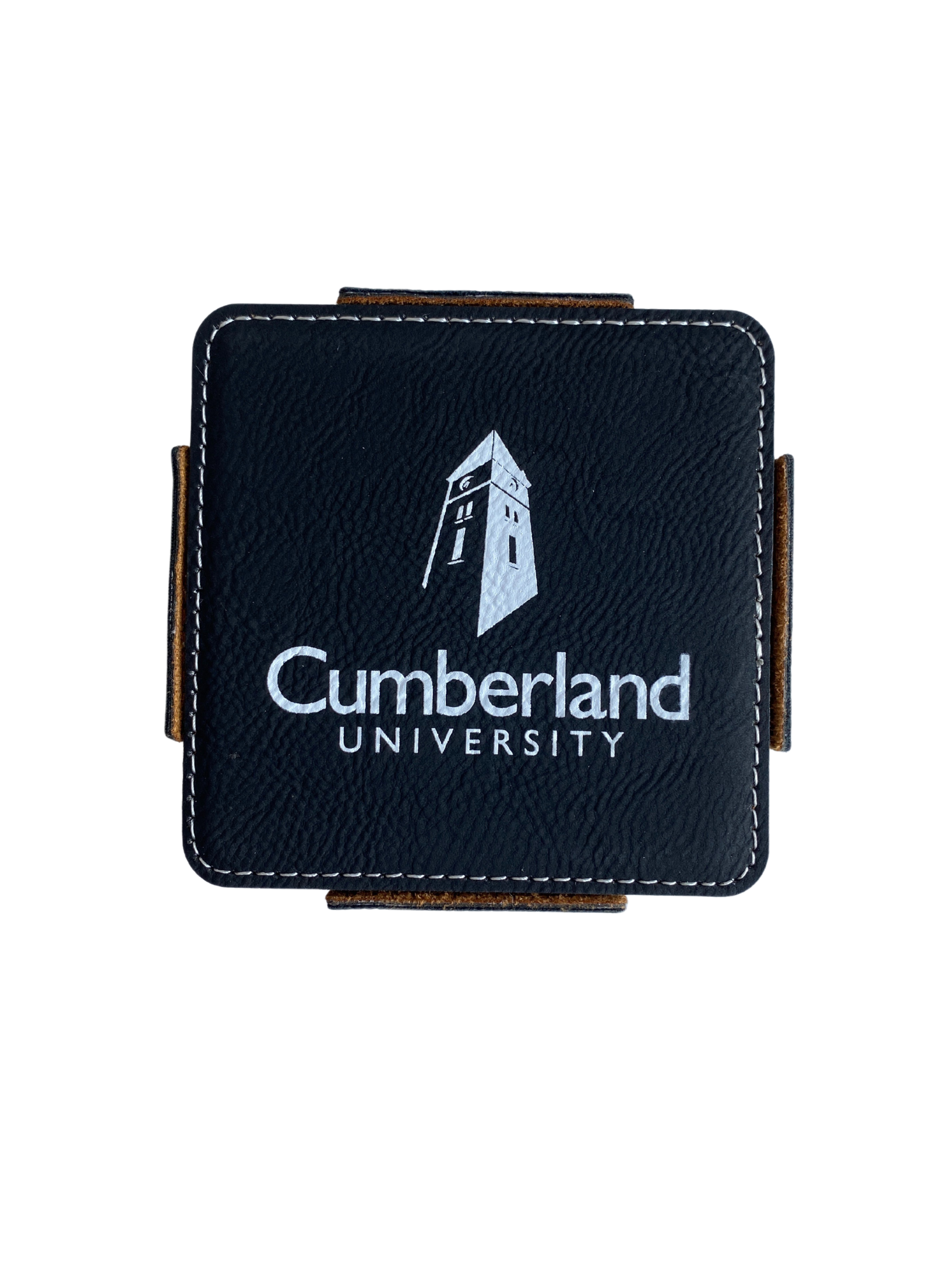 Cumberland University Leather Coaster Set