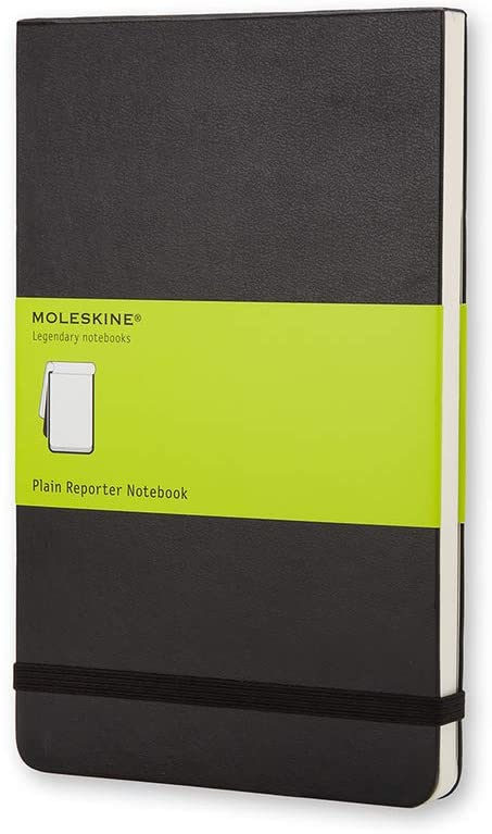 """Classic Notebook, Hard Cover, Pocket (3.5"""" x 5.5"""") Plain/Blank, Black, 192 Pages"""