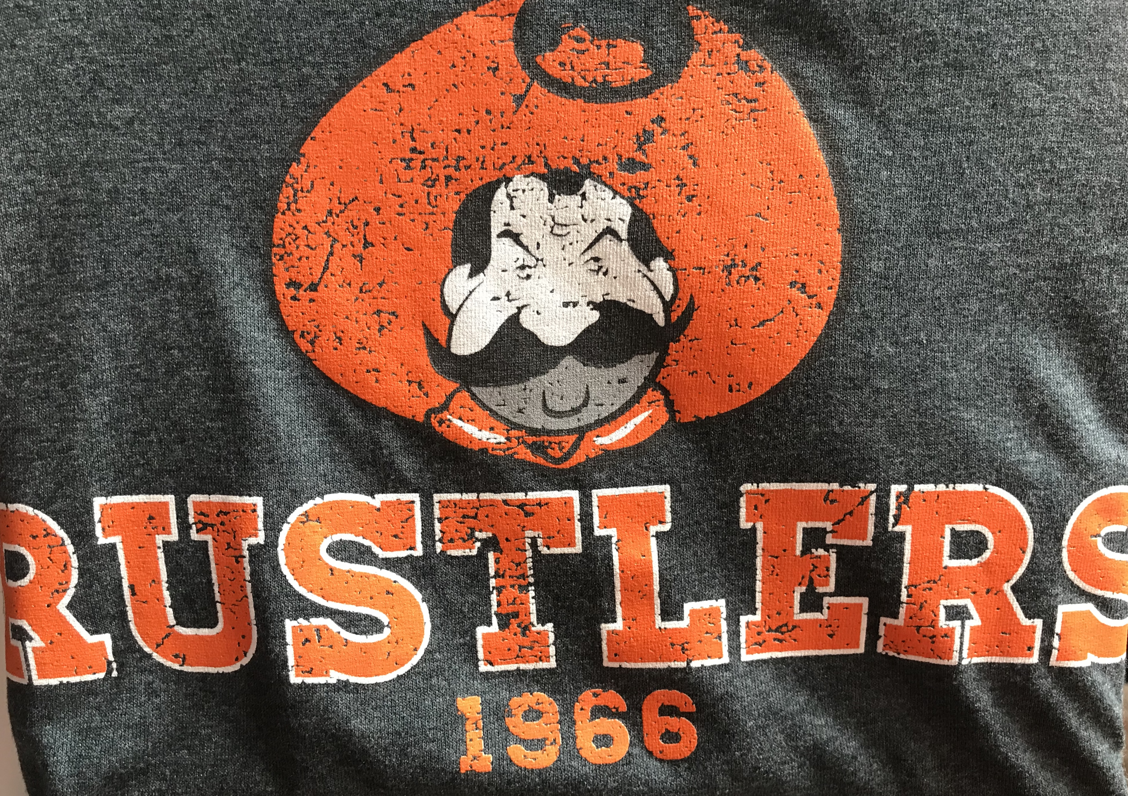 Rusty Rustlers Distressed T Shirt
