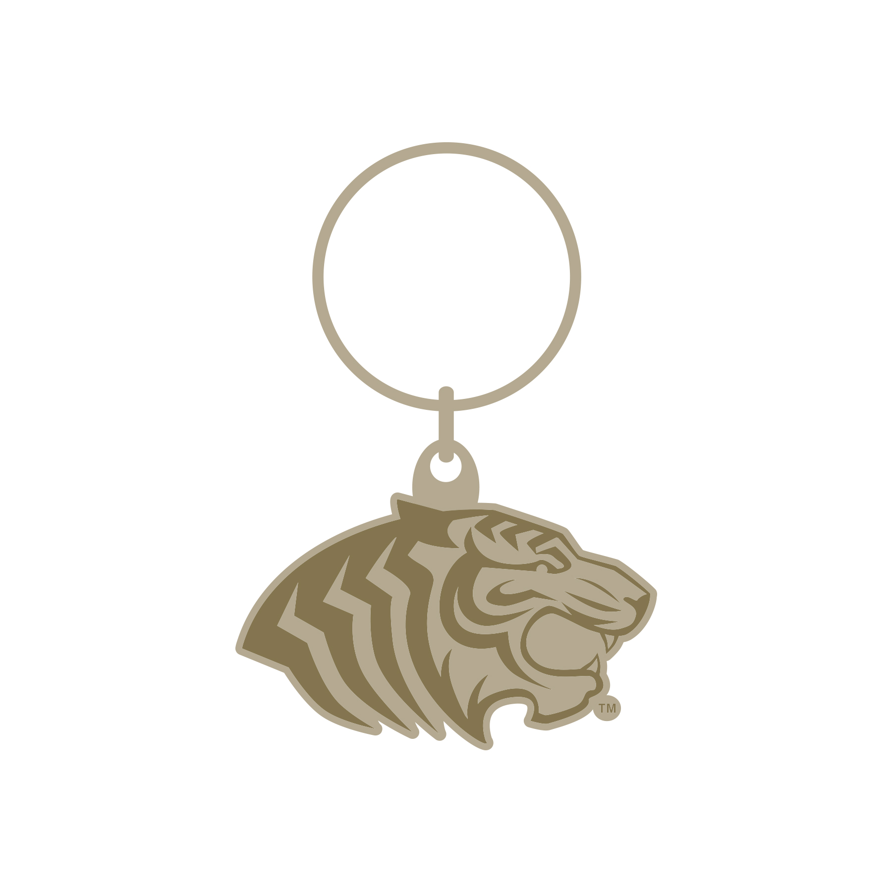 TIGER HEAD BRASS KEY RING
