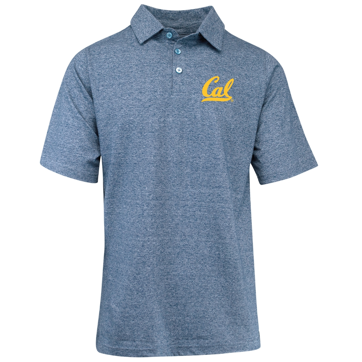 Cal Bears Men's Yachtster Heavyweight Heathered Polo Cal Logo