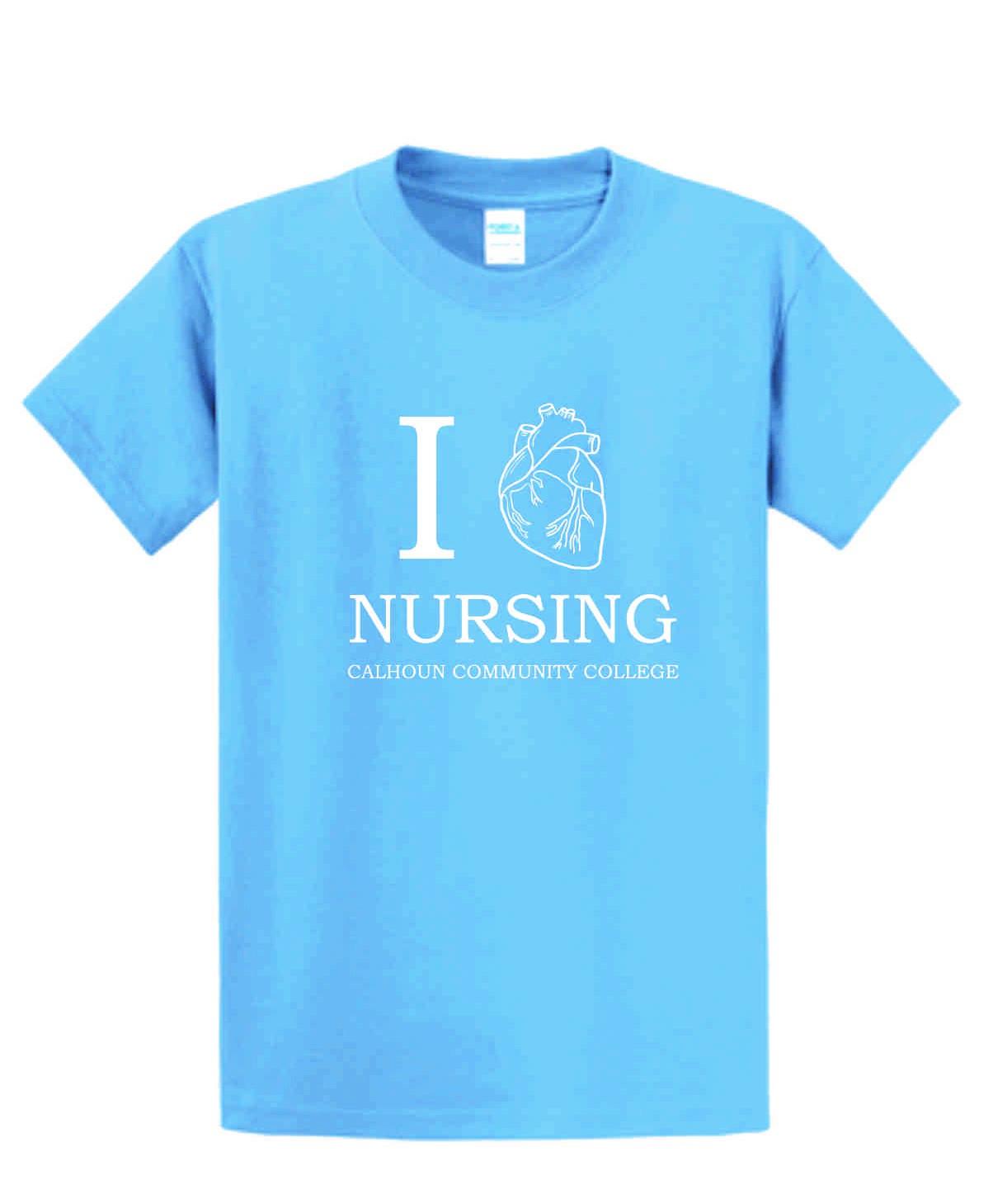 Calhoun I Heart Nursing Tee