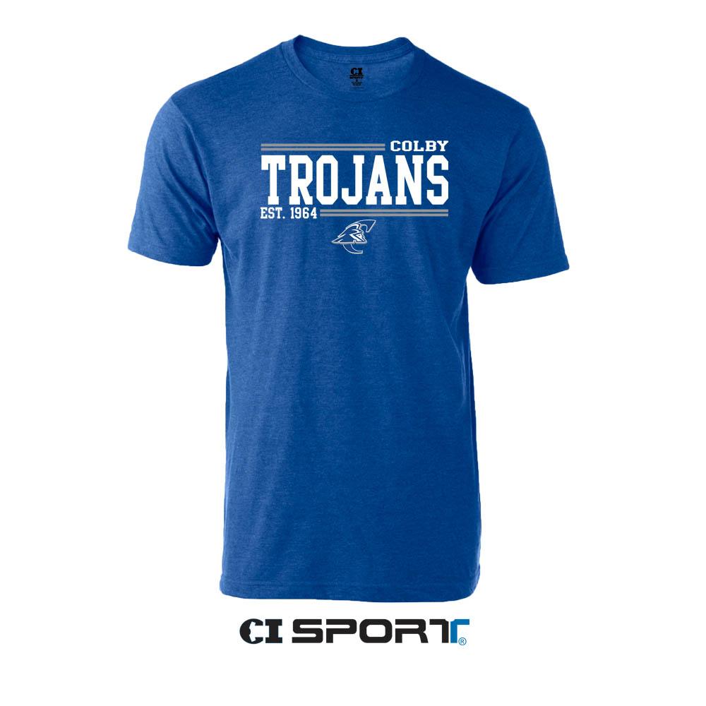 Tybee Heather Navy T-Shirt