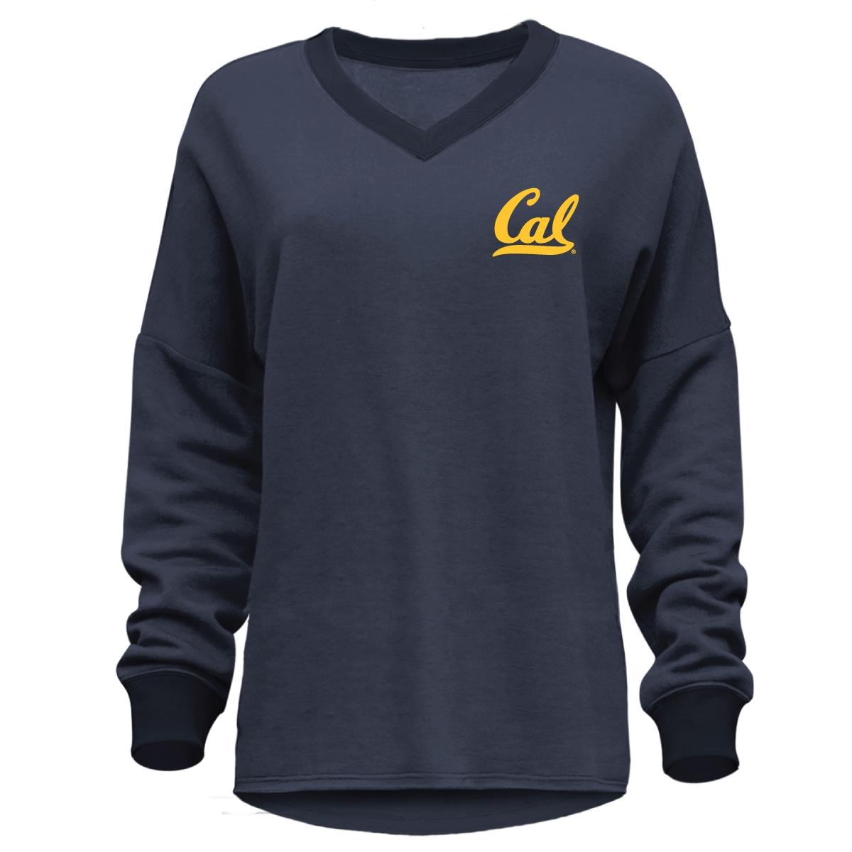 Cal Bears Women's Belle Relaxed Vneck Pullover Cal Logo