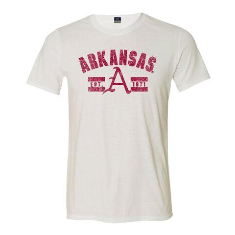 """Arkansas """"A"""" Tri-Blend Tee"""