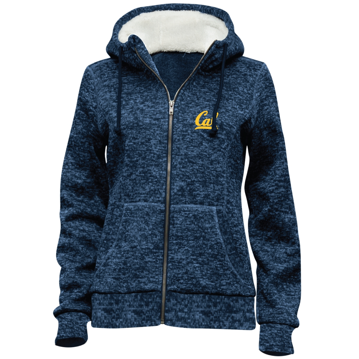 Cal Bears Women's Chilly Willy Hooded Sherpa Lined Jacket Cal Logo
