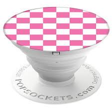Checker Pink Popsocket