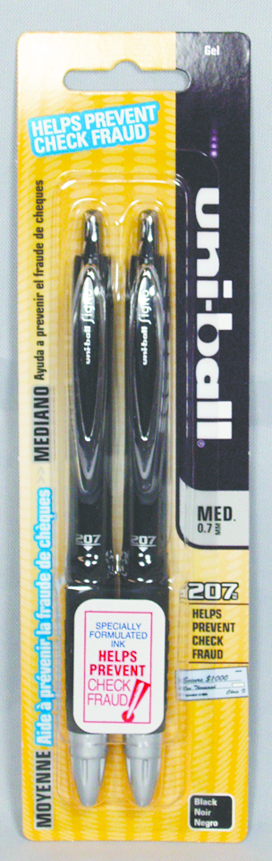 Uni-Ball Black Gel Pens 2-Pack