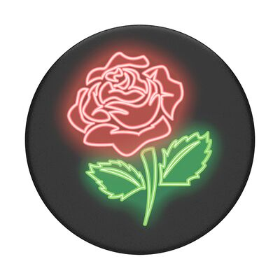 Neon Rose PopSocket