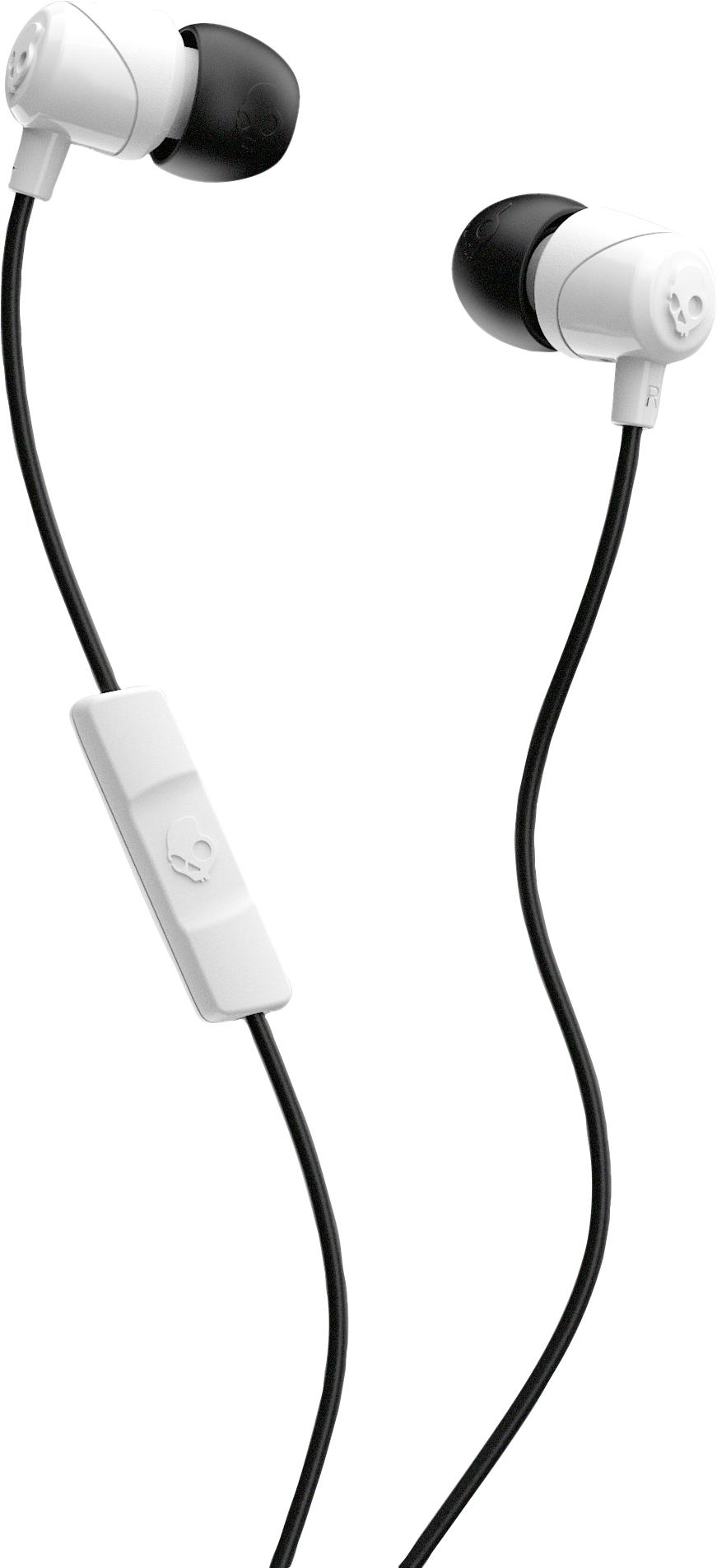 Skullcandy Jib In-Ear Earbuds with Mic - White-Black 1Pk BP