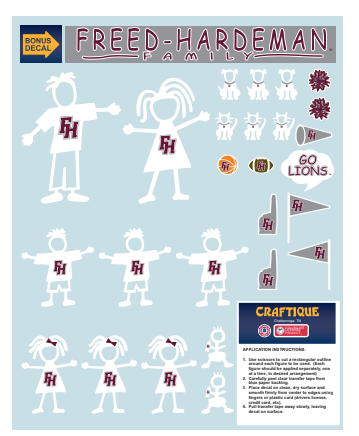 FHU Family Decals