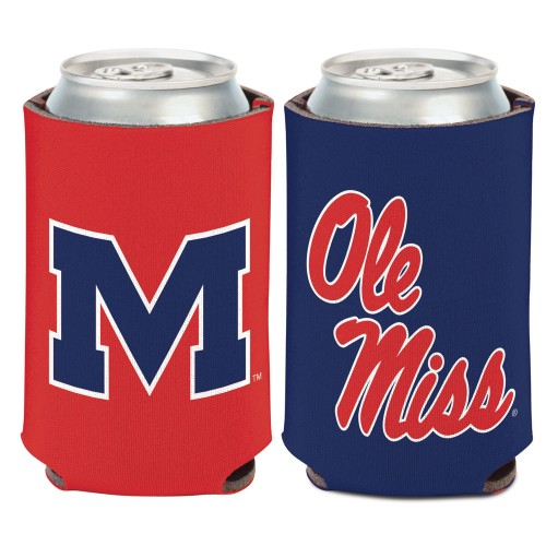Ole Miss Two Color Can Cooler