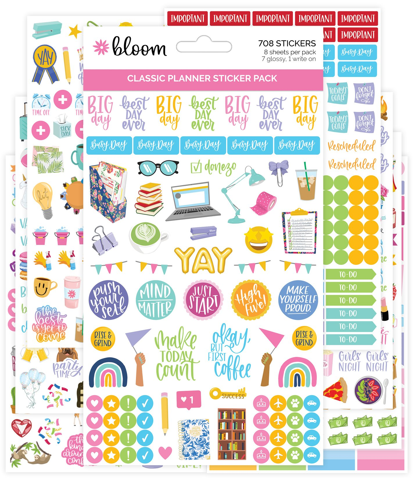 Classic Planner Sticker Sheets