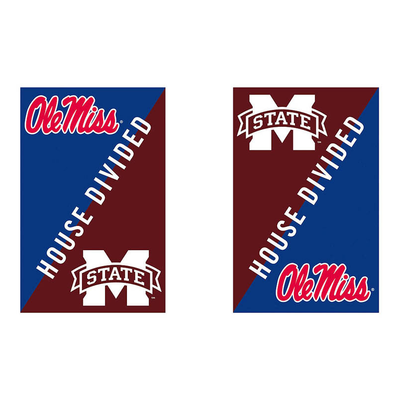 House Divided Collegiate Decorative Flag