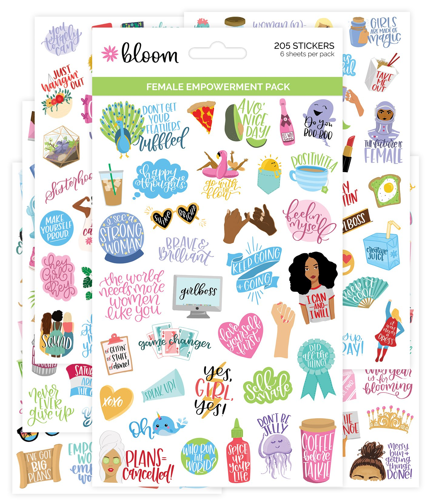 Female Empowerment Pack Sticker Sheets