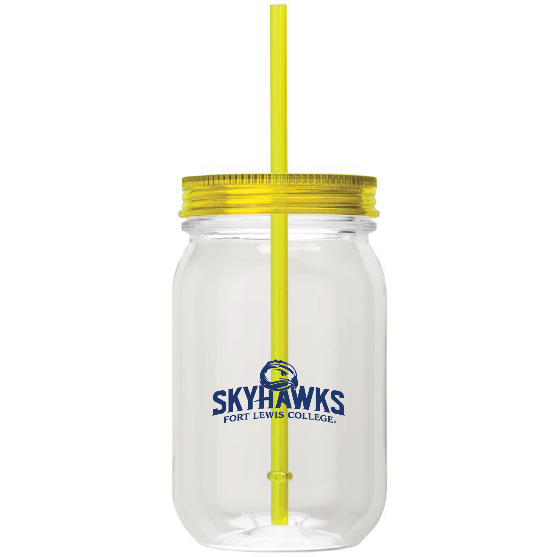 Skyhawks Mason Jar Tumbler W/ Straw