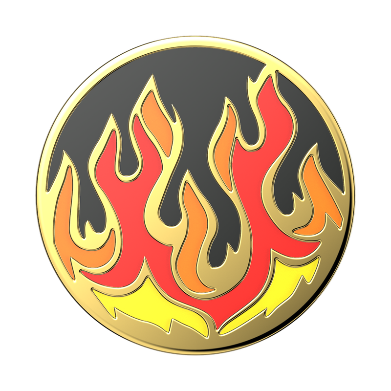 Enamel Flame on Black Popsocket