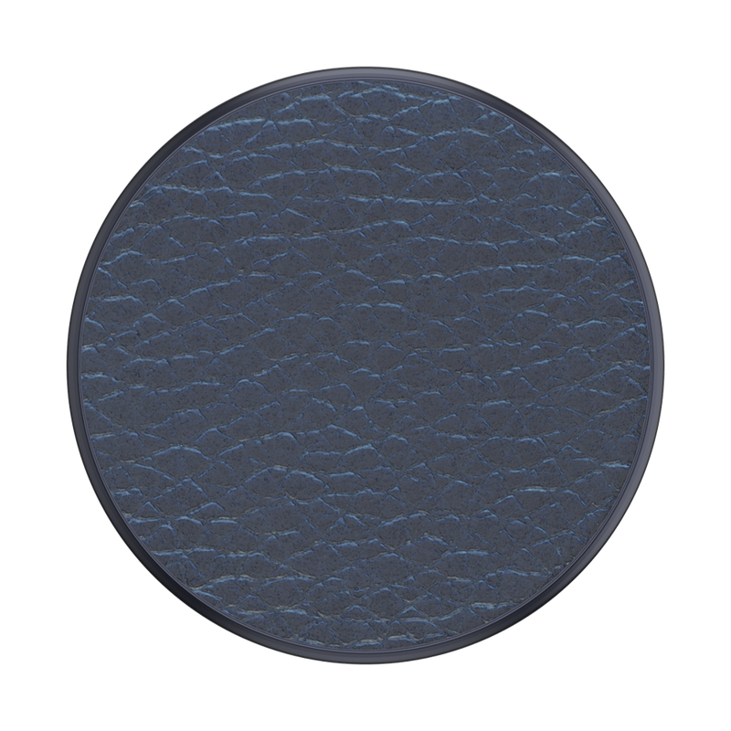 Pebbled Vegan Leather Navy BK Popsocket