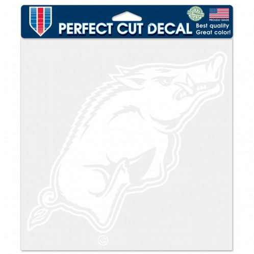 White Razorback Decal
