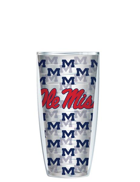 Logo on Repeat Pattern Clear Tumbler - 22 oz.
