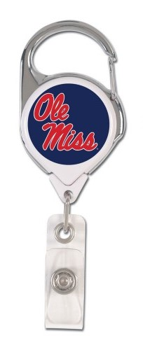 Premium Badge Holder with Ole Miss Script