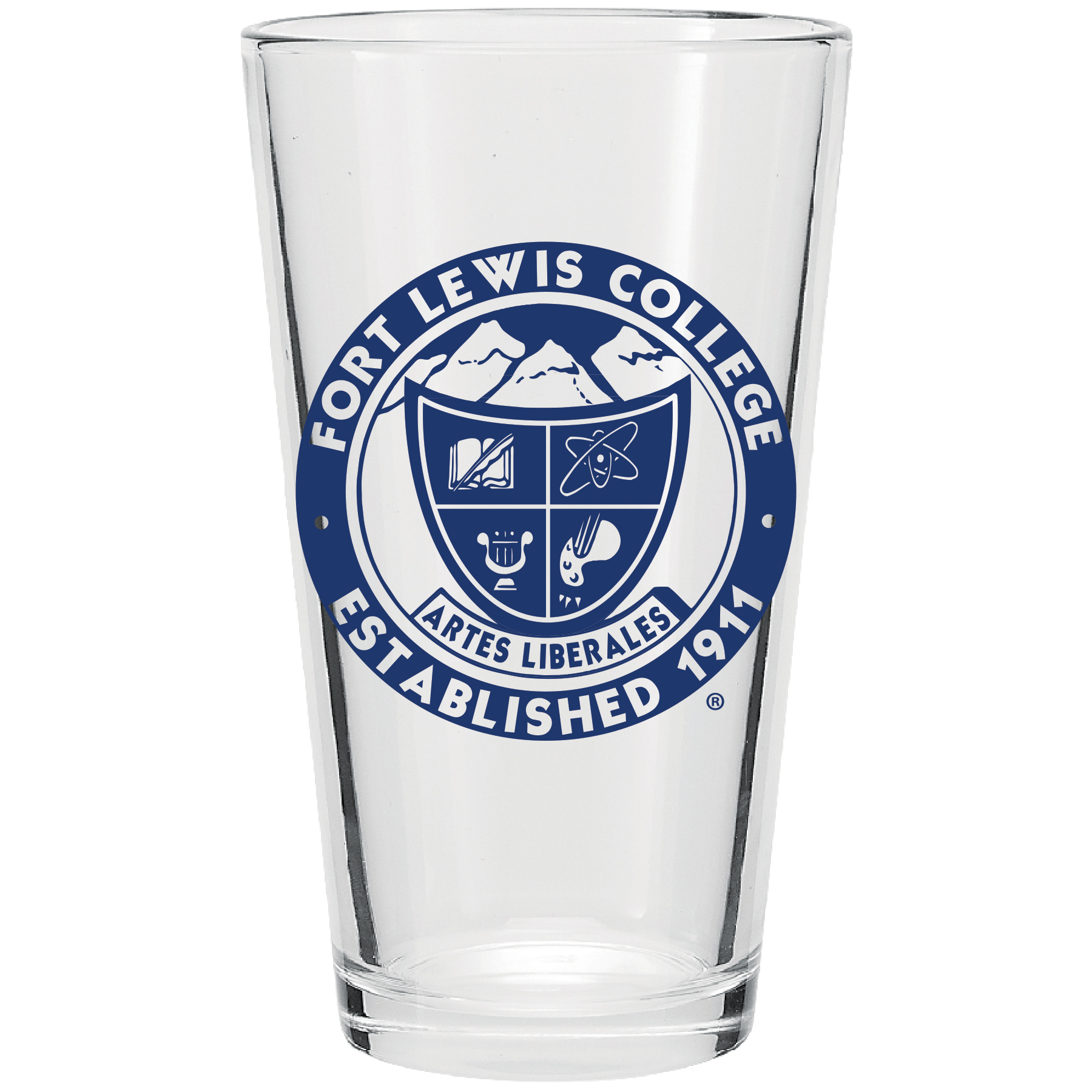 Fort Lewis College Stamp Pint Glass