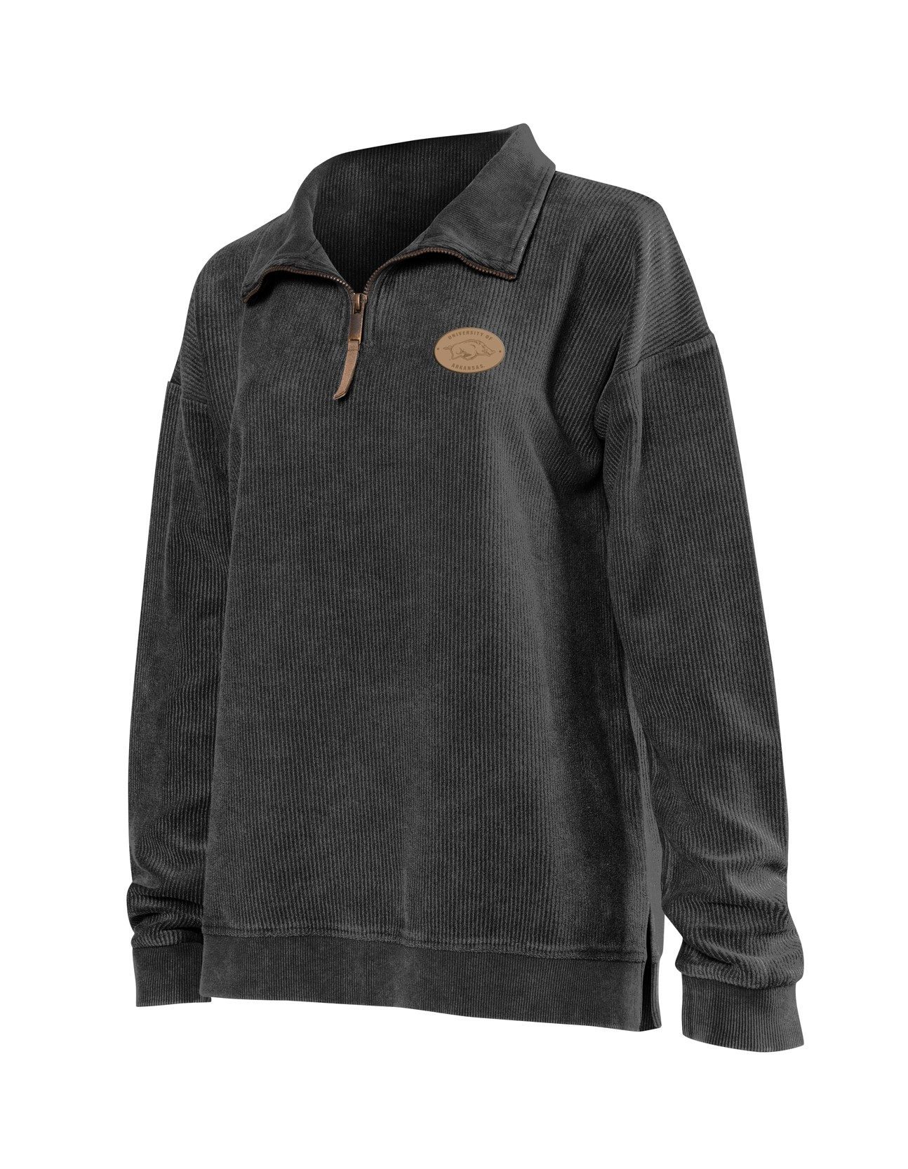 Quarter Zip Corded Pullover
