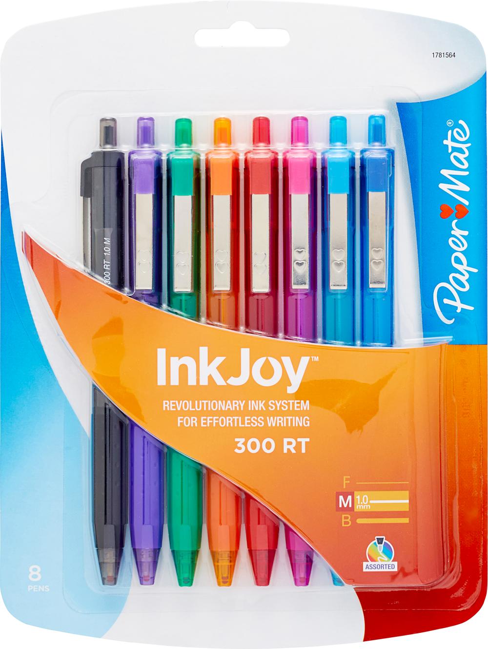 Paper Mate InkJoy 300RT Rectractable Ballpoint Pen - Asst 1.0mm 8Pk BP